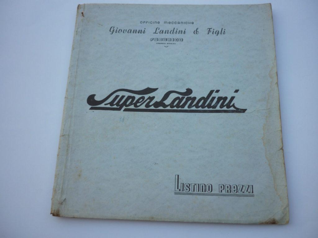 Listino prezzi ricambi Super anno 1947